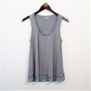 Anthropologie Eloise Blue Tank size S